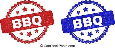 francobolli, struttura, afflizione, bbq, rosetta, usando