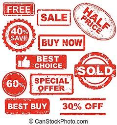 francobolli, vendita