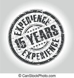 francobollo, 15, esperienza, anni