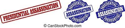 francobollo, assassinio, grunge, presidenziale, sigilli