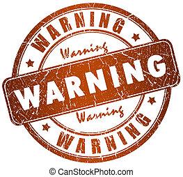 francobollo, avvertimento