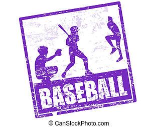francobollo, baseball