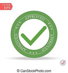 francobollo, bianco, verde, approvato, fondo
