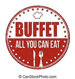 francobollo, buffet