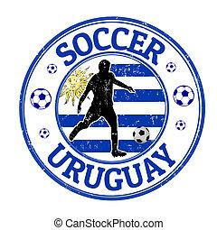 francobollo, calcio, uruguay