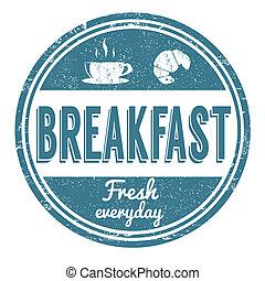 francobollo, colazione
