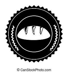 francobollo, dentro, isolato, disegno, sigillo, bread