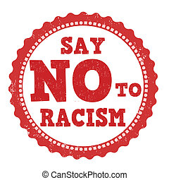 francobollo, dire, razzismo, no