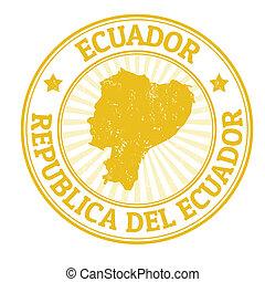 francobollo, ecuador