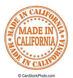 francobollo, fatto, california