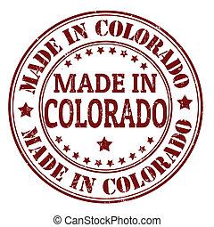 francobollo, fatto, colorado