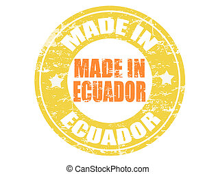 francobollo, fatto, ecuador