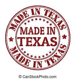francobollo, fatto, texas