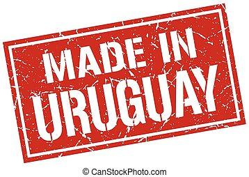 francobollo, fatto, uruguay
