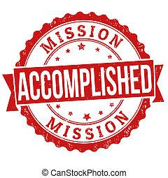 francobollo, finito, missione