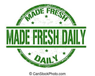 francobollo, fresco, fatto, quotidiano