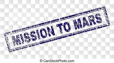 francobollo, grunge, missione, rettangolo, marte