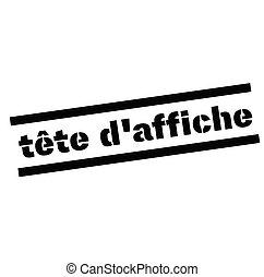 francobollo, headliner, francese