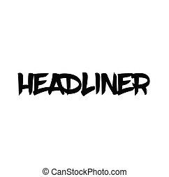 francobollo, headliner, italiano