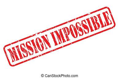 francobollo, impossibile, missione, rosso, testo