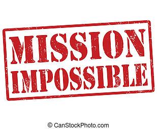 francobollo, impossibile, missione