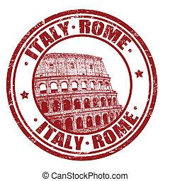 francobollo, italia, roma