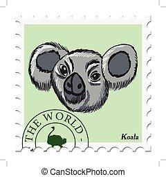 francobollo, koala