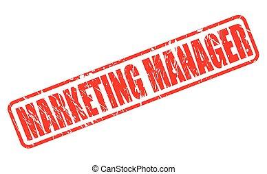 francobollo, marketing, direttore, rosso, testo