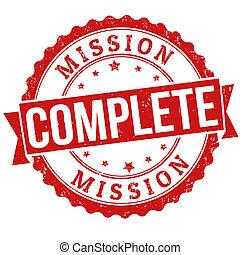 francobollo, missione, completo