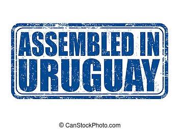francobollo, montato, uruguay