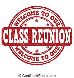 francobollo, nostro, benvenuto, classe, riunione