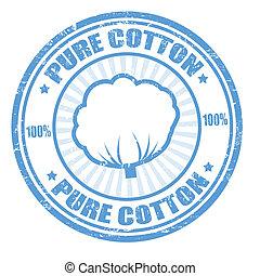 francobollo, puro, cotone