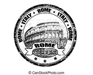 francobollo, roma