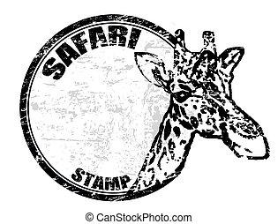francobollo, safari