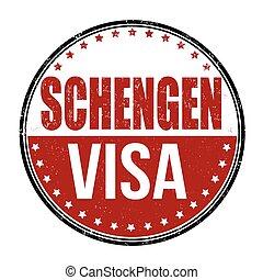 francobollo, schengen, visto