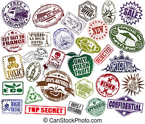 francobollo, set, mega