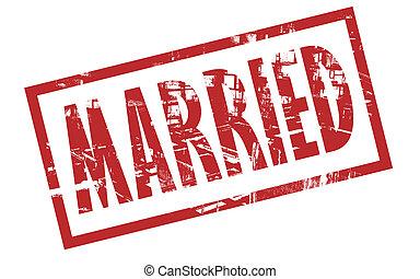 francobollo, sposato