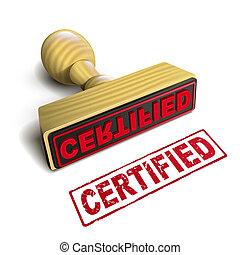 francobollo, testo, bianco rosso, certificato