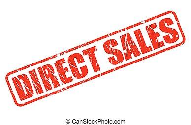 francobollo, testo, diretto, rosso, vendite