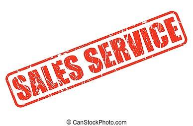 francobollo, testo, vendite, servizio, rosso