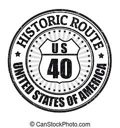 francobollo, tracciato, storico, 40