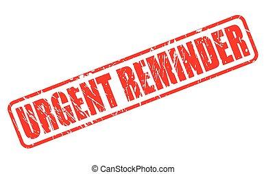 francobollo, urgente, promemoria, rosso