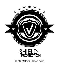 francobollo, vendemmia, etichetta, etichetta, protezione, nero, retro, distintivo,  