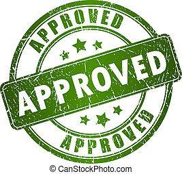 francobollo, vettore, approvato