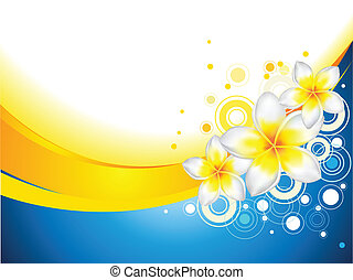 frangipani, fiori, fondo
