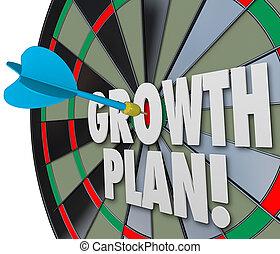 freccetta, mirare, scopo, affari, vendite, ditta, risultati, miglioramento, aumento, crescita, asse, parole, obiettivo, organizzazione, missione, punteria, o, piano