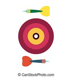 freccette, vettore, day., fondo., bianco, childrens, illustration., casato, elementi