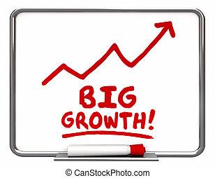 freccia, grande, illustrazione, aumento, crescita, salita, parole, migliorare, 3d