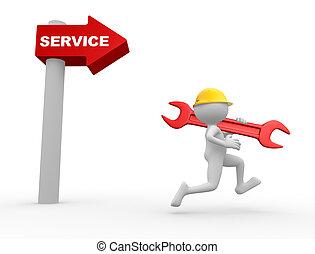 freccia, service., parola