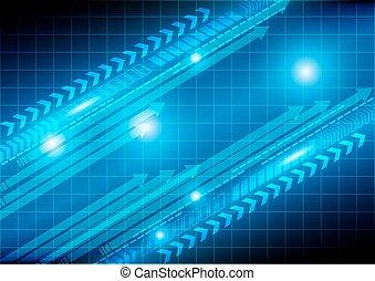 freccia, tecnologia, astratto